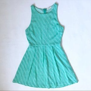 🌵 Anthropologie Everly Mini Dress Small Green